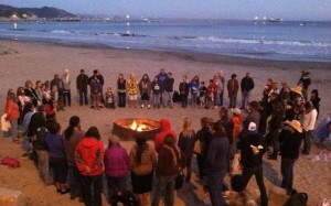 Sunset Prayer Ceremony at Thank You Whales two years ago